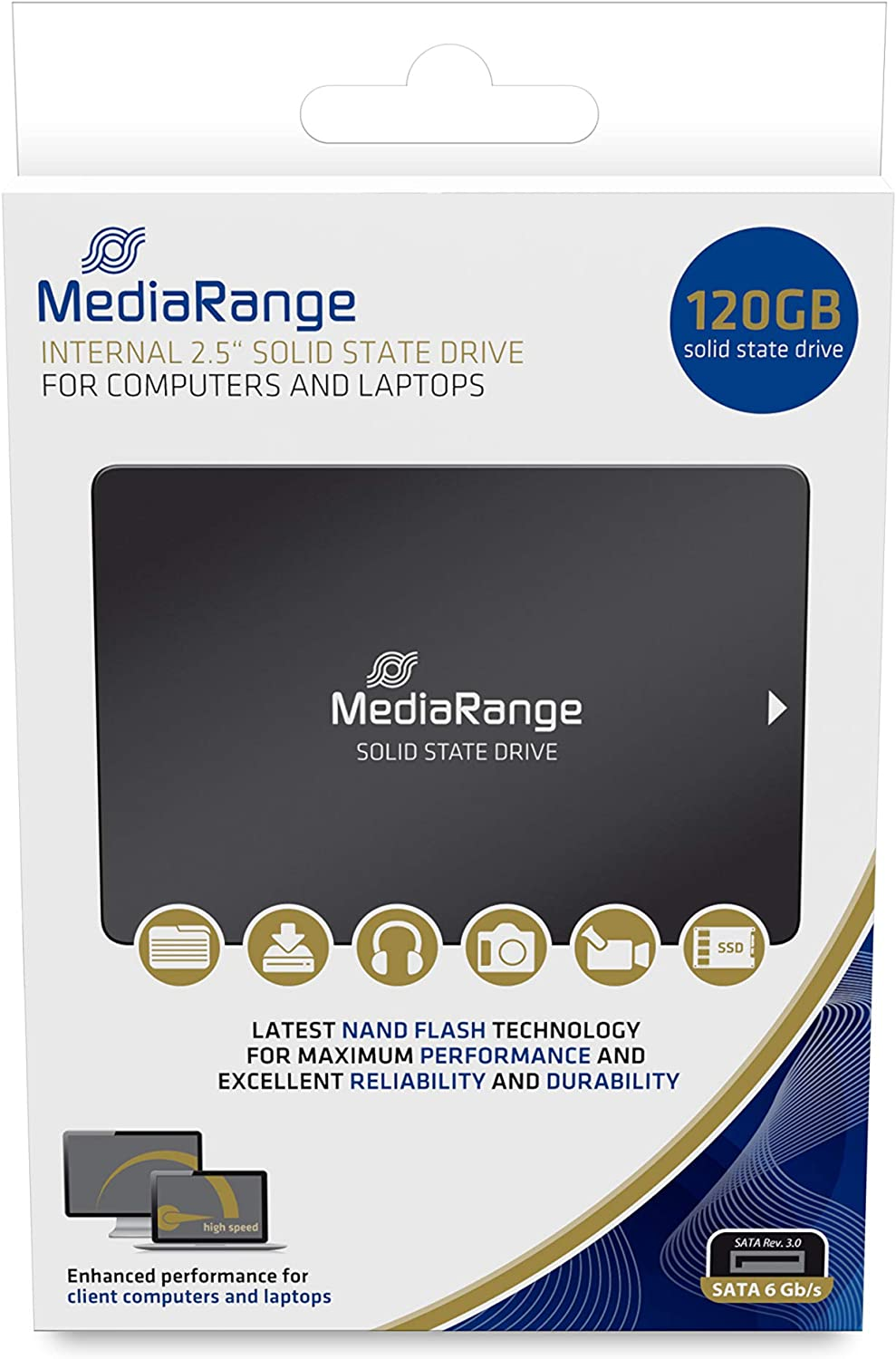 MediaRange MR1001 2.5 Disco Duro SSD 120GB SATA III Interno ...