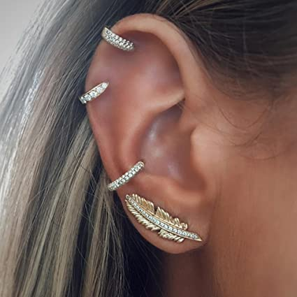 Image Unavailable. Image not available for. Color  TraveT Women Girls Full Diamond  Star Stud Earrings ... 7c5865b034