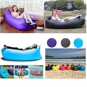 hinchable sofá, camtoa Camilla Couch Saco de dormir Air Bag Lazy Sofá, portátil Puf sillón para camping viaje playa Park Jardín Exterior, ...