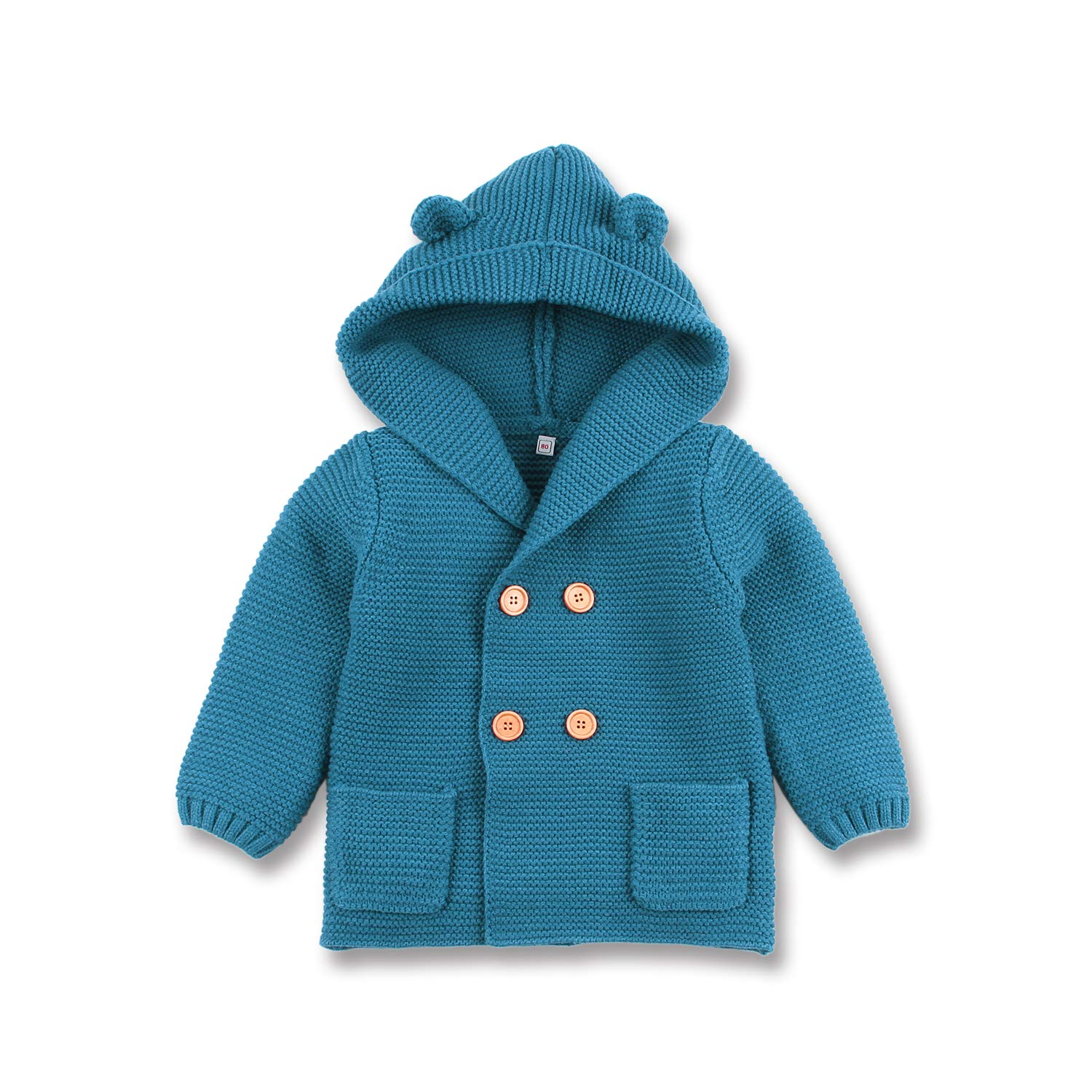 mimixiong Baby Sweater Cardigan Boy Jackets Long Sleeve Hooded Coats