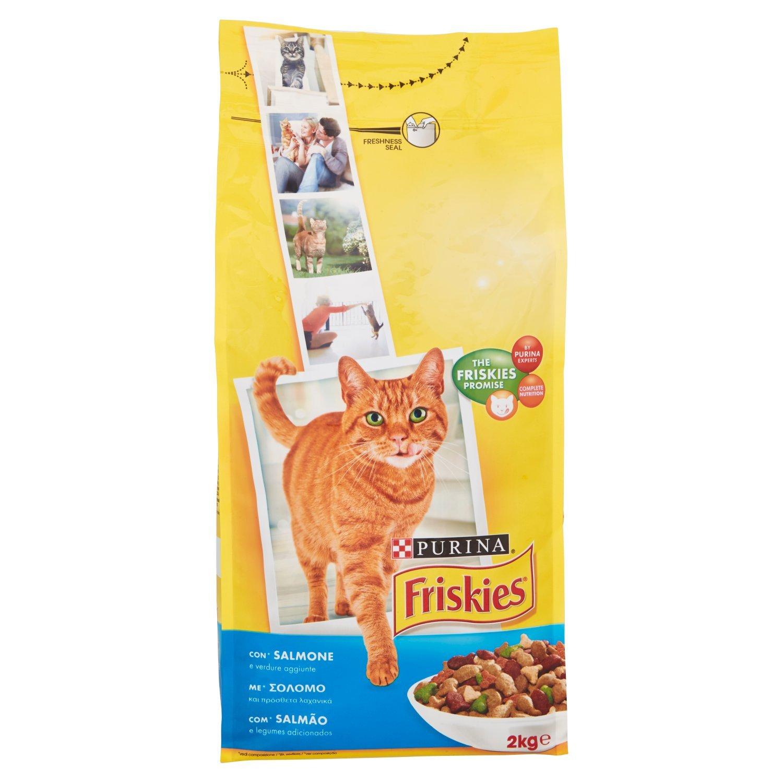 Friskies Adult pienso para el Gato, con salmón y Verduras aggiunte, 2 kg (Paquete de 6: Amazon.es: Productos para mascotas