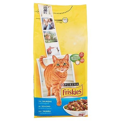 Friskies Adult pienso para el Gato, con salmón y Verduras ...