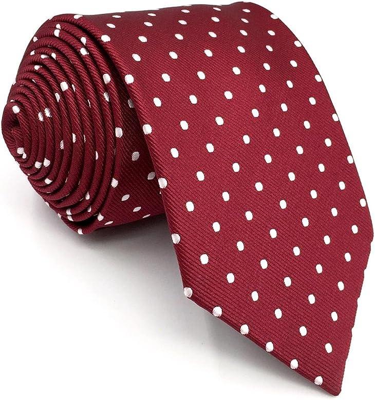 shlax&wing Gris Corbatas Para Hombre Puntos Corbata Flaca Puntos Traje de negocios Nuevo (Corbata 147cm x 8cm): Amazon.es: Ropa y accesorios