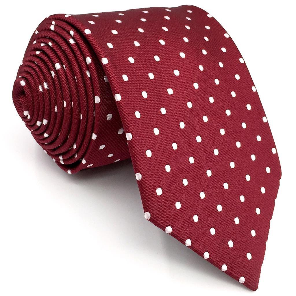 S/&W SHLAX/&WING Mens Tie Set Necktie with Pocket Square Cufflinks