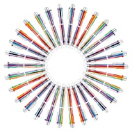 Multicolor Pen - 30 Pack 0.5mm 6-in-1 Retractable Ballpoint Pens for Office School Supplies Students Children Gift