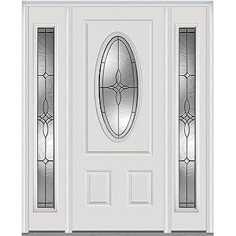 National Door Company Z021483L Fiberglass Smooth, Primed, Left Hand In Swing,  Exterior
