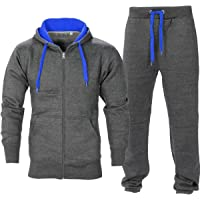 Momo&Ayat Fashions Mens Contrast Tracksuit Hoody and Jogset Size Small to 5XL