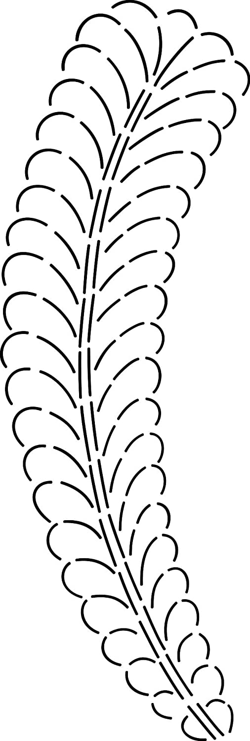 Curved Feather Stencil XSmall