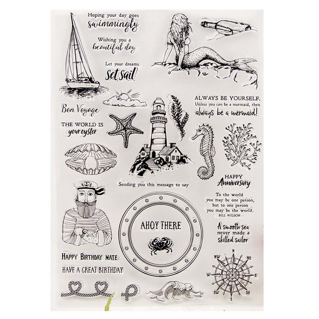 Frohe Weihnachten Silikon Klar Siegel Stempel DIY Scrapbooking Pr/äge Fotoalbum Dekoratives Papier Karte Handwerk Kunst Handgemachtes Geschenk