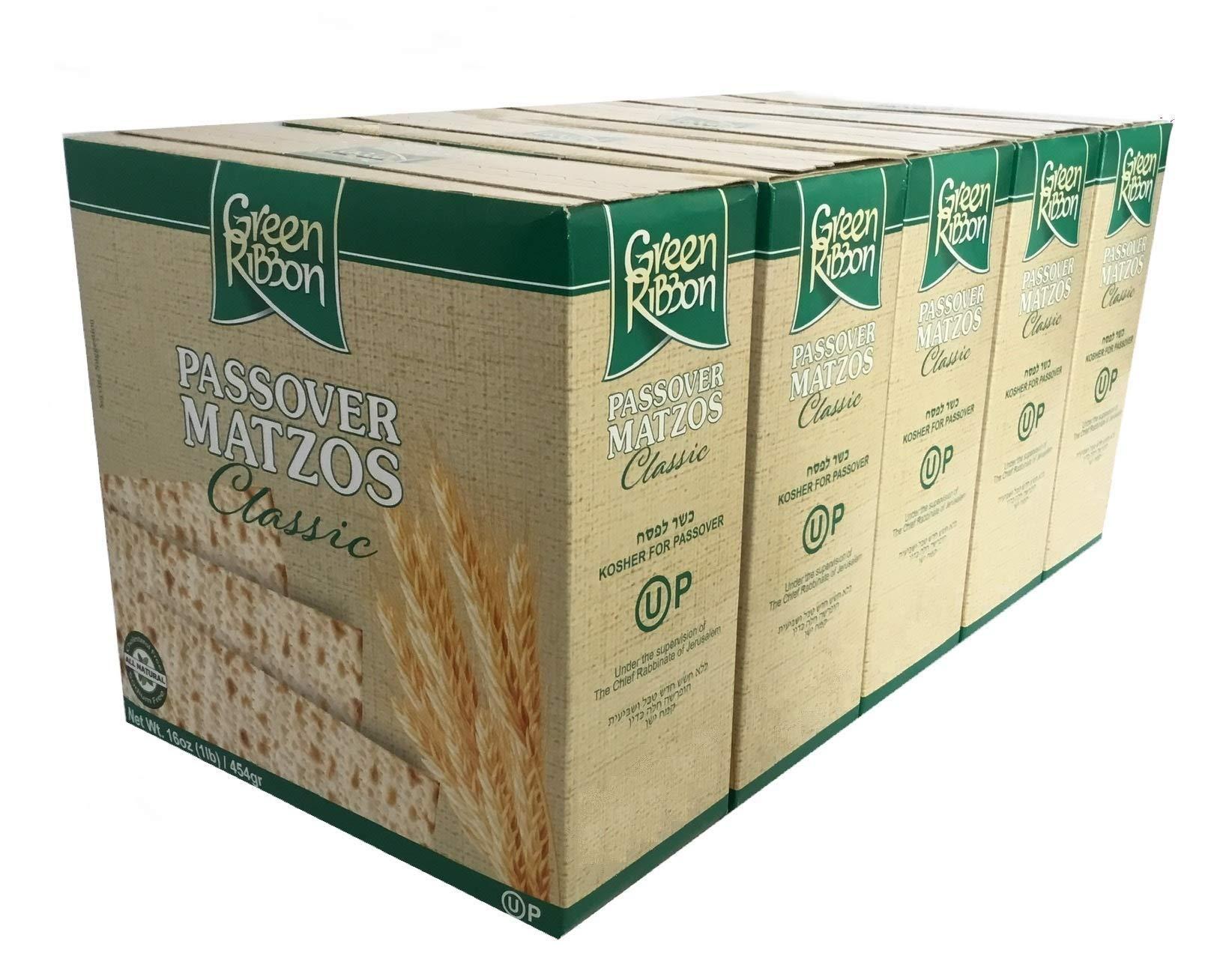 Green Ribbon Passover Matzo 5-1LB Boxes