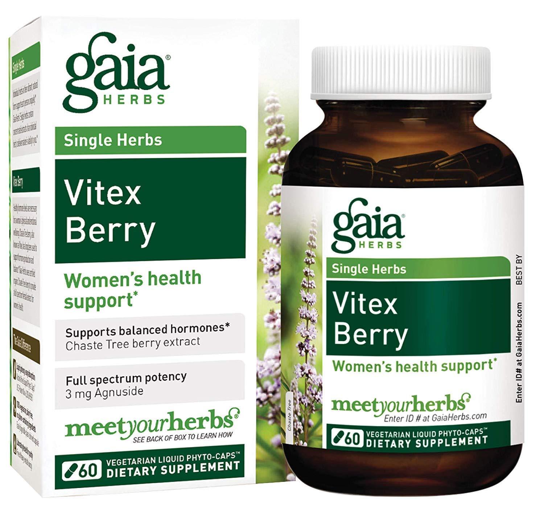 Vitex Berry, 60 Veggie líquidos Phyto-Caps - Gaia Herbs: Amazon.es: Salud y cuidado personal