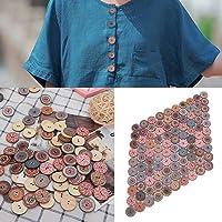 HEEPDD 100Pcs 20mm Botones de Madera de Color
