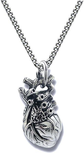 Human Heart Jewelry Cardiac Surgeon Gifts Anatomic Necklace Medical Heart Surgery Gift Anatomical Heart Necklace Realistic Heart Charm