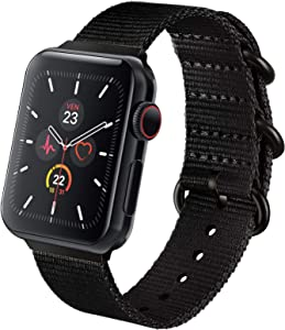 Adepoy NATO Bands Compatible with Apple Watch Band 44mm 42mm 40mm 38mm, Breathable Woven Nylon Sport Strap with Metal Buckle Compatible for Apple iWatch Series 6 5 4 3 2 1 SE