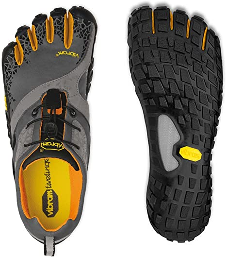 Vibram Fivefingers Spyridon MR Men - Zapatillas de Cinco Dedos para Hombre Grey/Orange Talla:46: Amazon.es: Deportes y aire libre