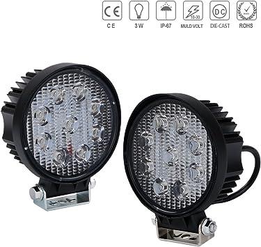 4inch 18W LED Work Light Driving Fog Lamp Spot Reverse Lights Trailer Truck