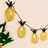 GIGALUMI 10ft 10 LED Pineapple Shaped String Lights, Battery Operated Fairy Lights for Patio Home Wedding Party Bedroom Birth