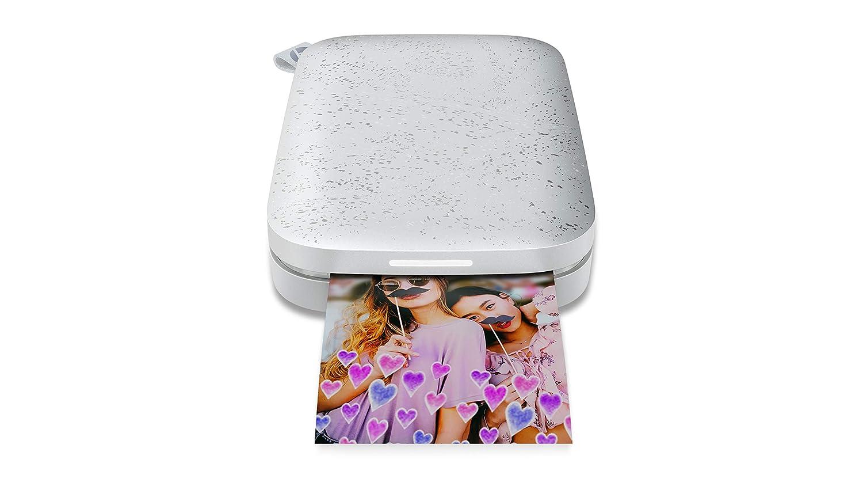 HP Sprocket New Edition –Impresora fotográfica portátil (Impresión Sin Tinta, Bluetooth, 5x 7,6cm Impresiones) Blanco