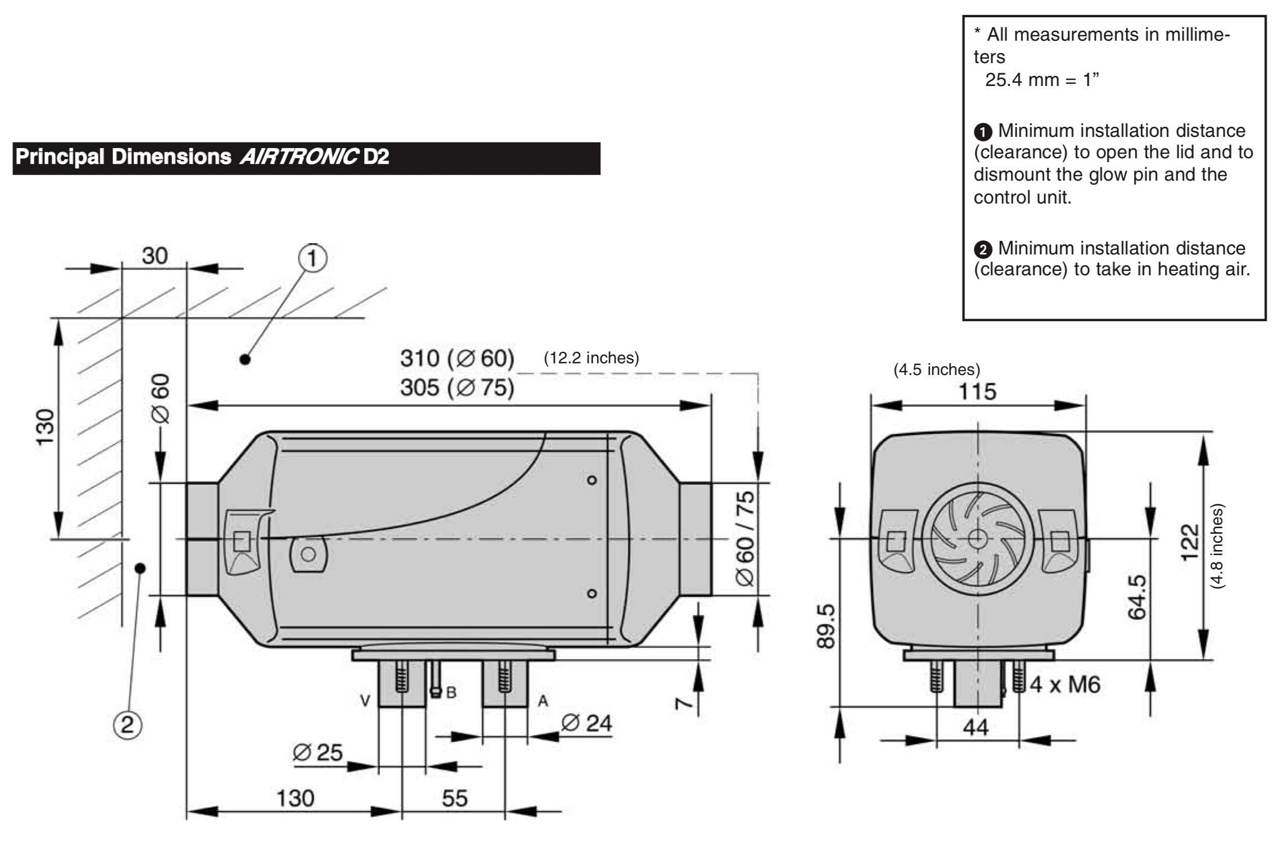 Eberspacher Espar Airtronic D2 air heater 12v Diesel with 80110003 control   292199018017   E8017 by Eberspacher