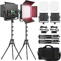 RGB Led Photography Lighting, Pixel 2 Packs Full Color Led Video Light, 552PCS LED Beads 45W/CRI 97/2600K-10000K/9…