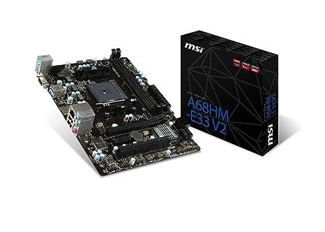 MSI AMD FM2+ A68H DDR3 SATA 6Gb/s USB 3 0 HDMI Micro ATX Motherboard  (A68HM-E33 V2)