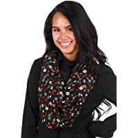 elope Dr. Seuss The Cat in The Hat Lightweight Infinity Scarf Black