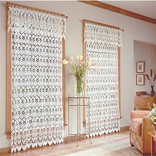 Medallion Curtain Panel 48 x 63 -Ecru