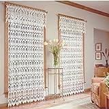 Medallion Curtain Panel 48x 63 Ecru