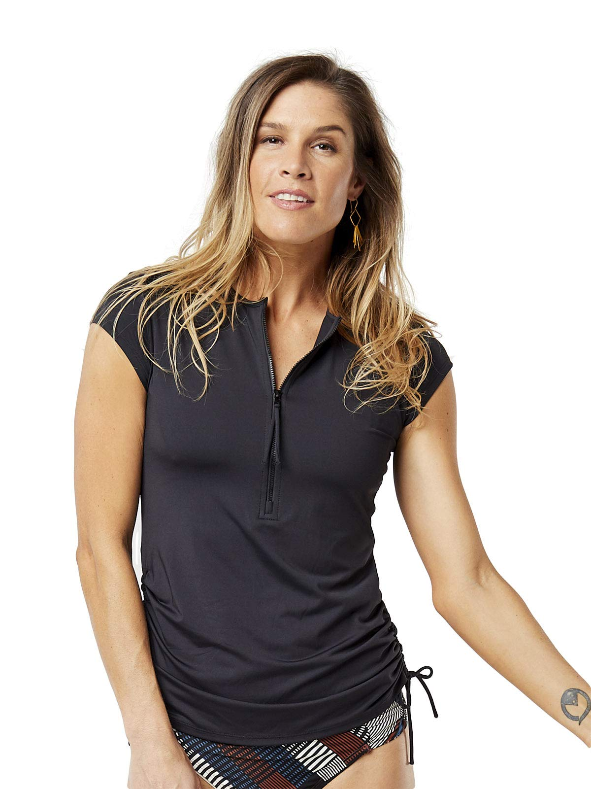 CARVE Designs Women's Standard Dawson Rashguard, Black, LG by CARVE