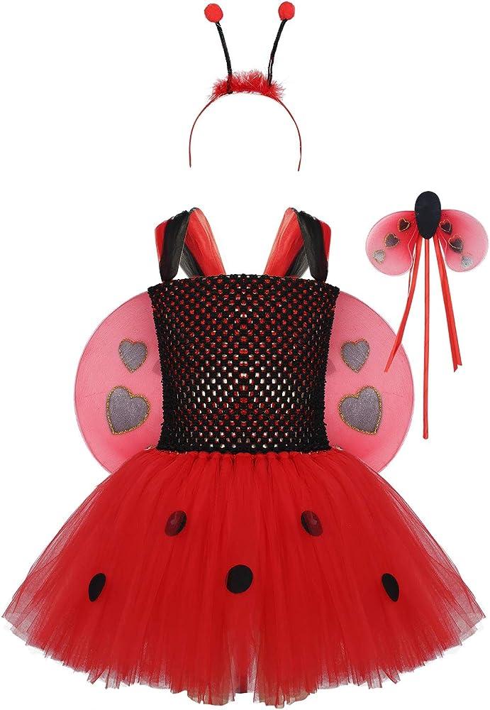 Alvivi Disfraces de Mariquita Infantiles Vestidos Tutu de Princesa ...