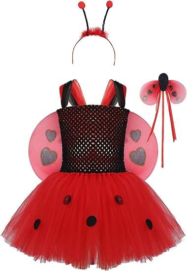 Agoky Traje de Disfraces Ladybug Mariquita Niñas Vestidos Tutu de ...