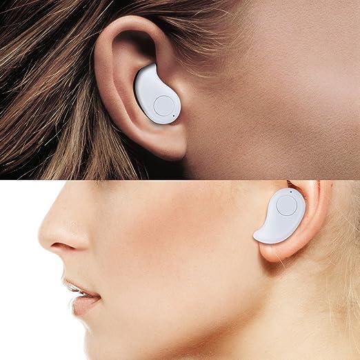Auriculares con Bluetooth invisible para manos libres para iPhone, Samsung, Xiaomi, Sony, Lenovo, HTC, LG, etc., de Naisicatar: Amazon.es: Electrónica