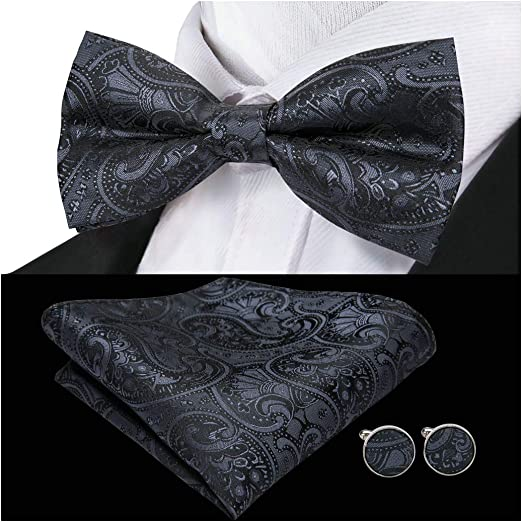 USA Men/'s Navy Blue Tie Hanky Necktie Cufflinks Square Tie Set Wedding Formal