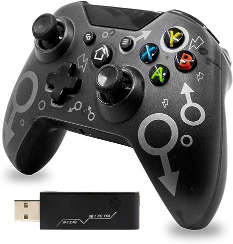 Mando para Xbox One 2.4G Bluetooth Mando Inalámbrico Compatible con Xbox One/PS3/PC Joystick Inalámbrico Diseño Ergonomico: Amazon.es: Videojuegos