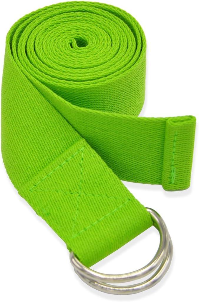 Labewin Yoga-Gurt Baumwolle 2/St/ück Therapie, robuster mit hoher Qualit/ät f/ür die verstellbar mit D-Ring