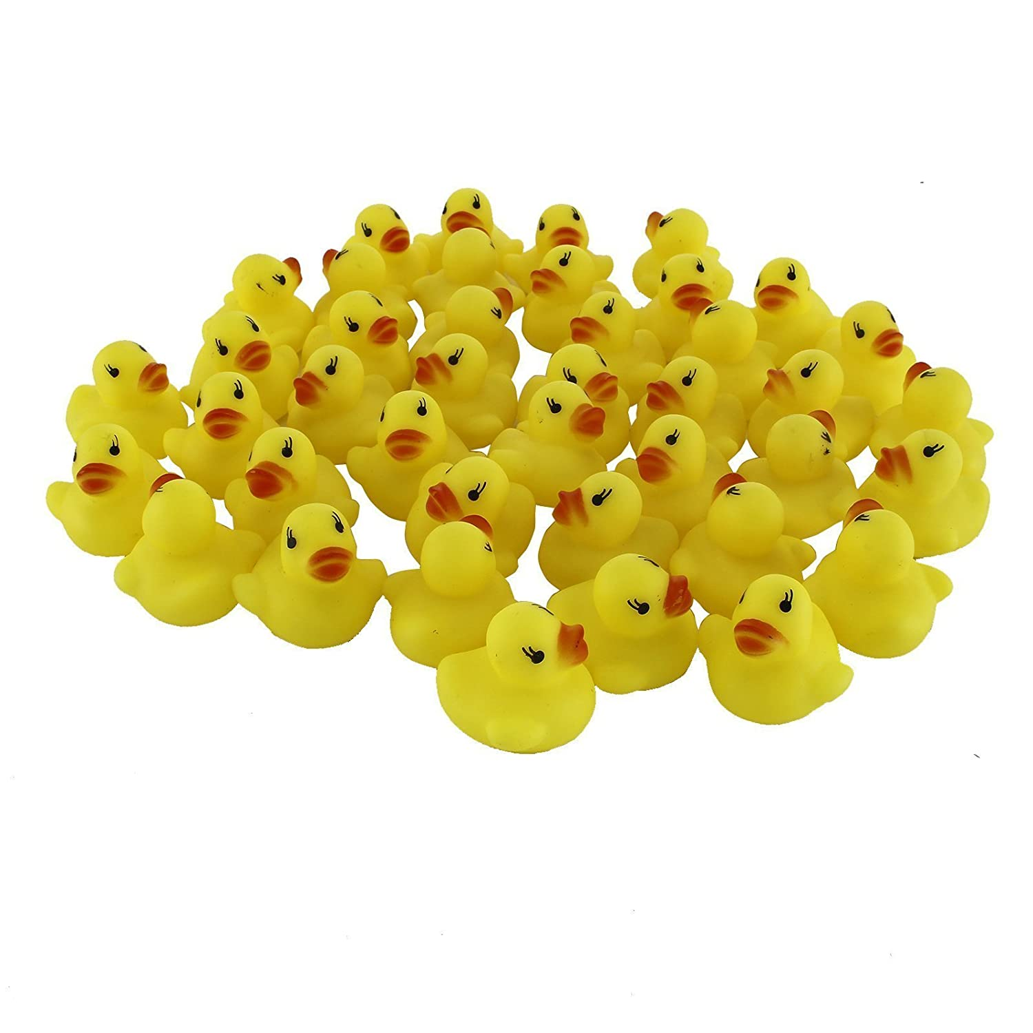 Stuffwholesale 1.5inch Rubber Sound Duck Baby Bath Toys 20rd