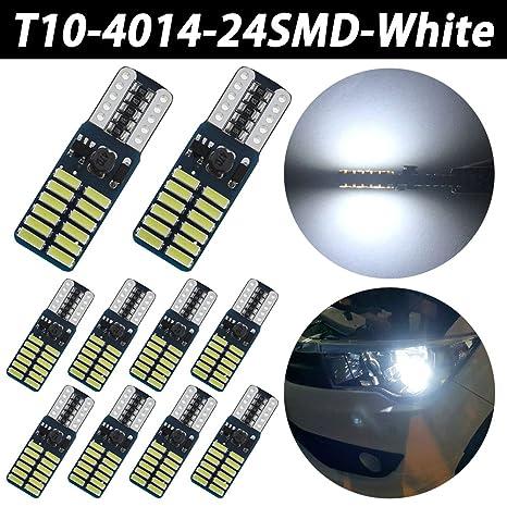 TABEN 4014 Chipset T10 Canbus - Bombillas LED para interior de coche con forma de cúpula