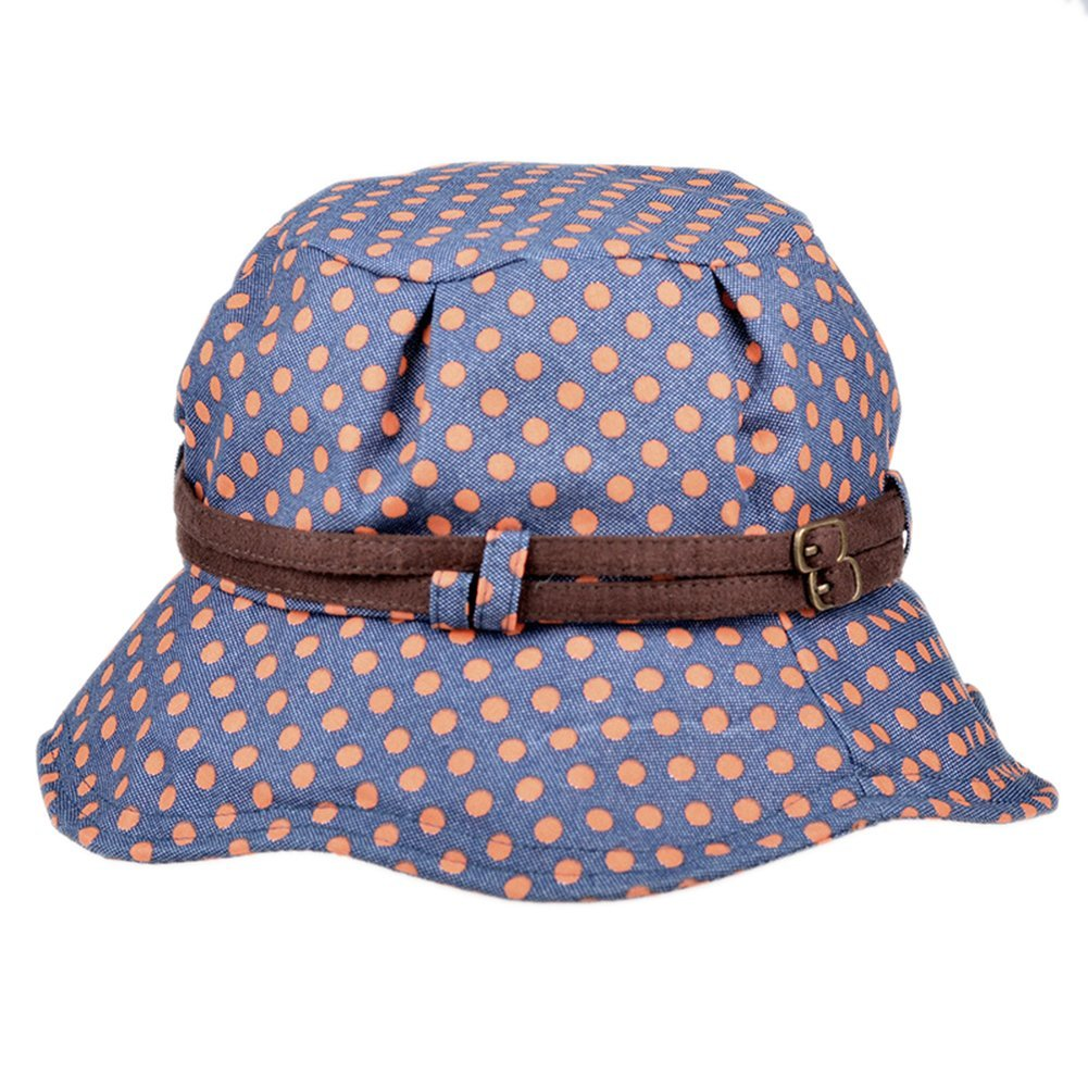 Womens Summer Beach Cotton Polka Dot Floppy UV Sun Boonie Bucket Hat Cap  Visor at Amazon Women s Clothing store  30474ae07ba