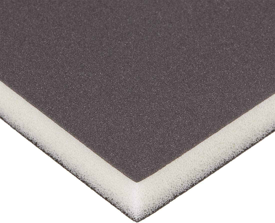 uxcell Sanding Sponge Sanding Block Pad 60 Grit 4.7inch X 3.9inch X 0.5inch Brown 2pcs