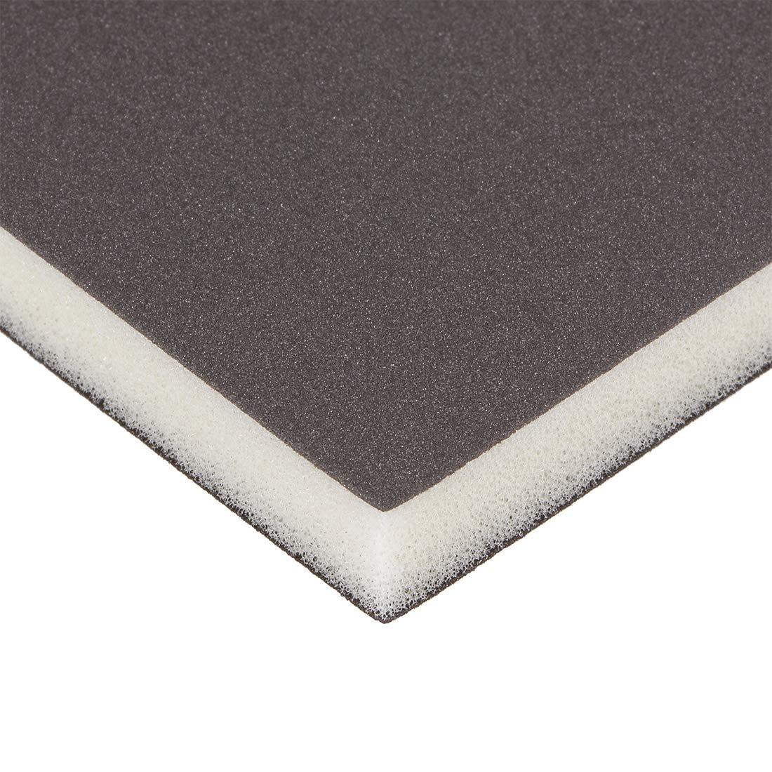 uxcell Sanding Sponge Sanding Block Pad 400 Grit 4.7inch X 3.9inch X 0.5inch Brown 3pcs