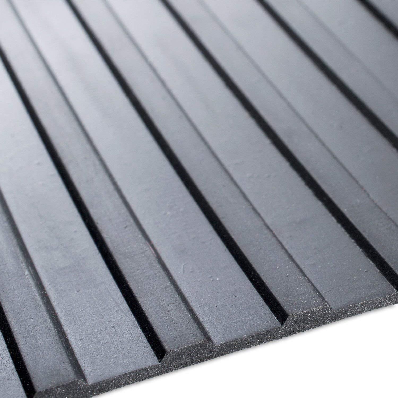Tapis de sol de s/écurit/é choisir /à partir de 11 Tailles de delarge nervur/é en caoutchouc Rouleau de rev/êtement de sol Atelier, 2m longueur 2m largeur antid/érapant Convient pour garage 6mm /épaisseur