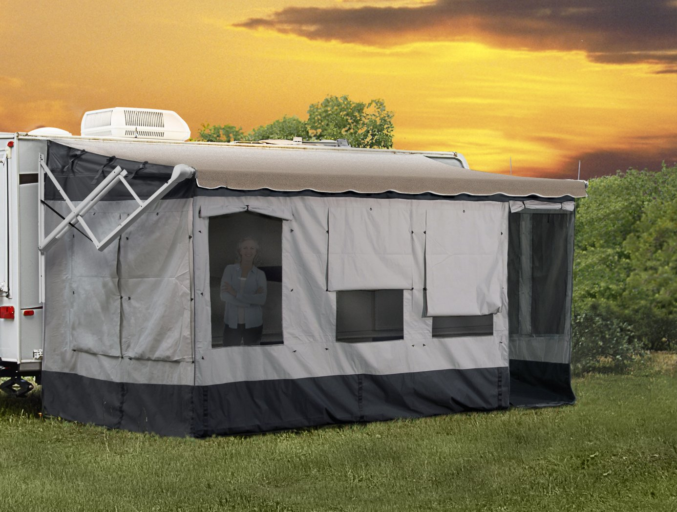 Carefree 291800 Vacation'r Screen Room for 18' to 19' Awning by Carefree (Image #1)