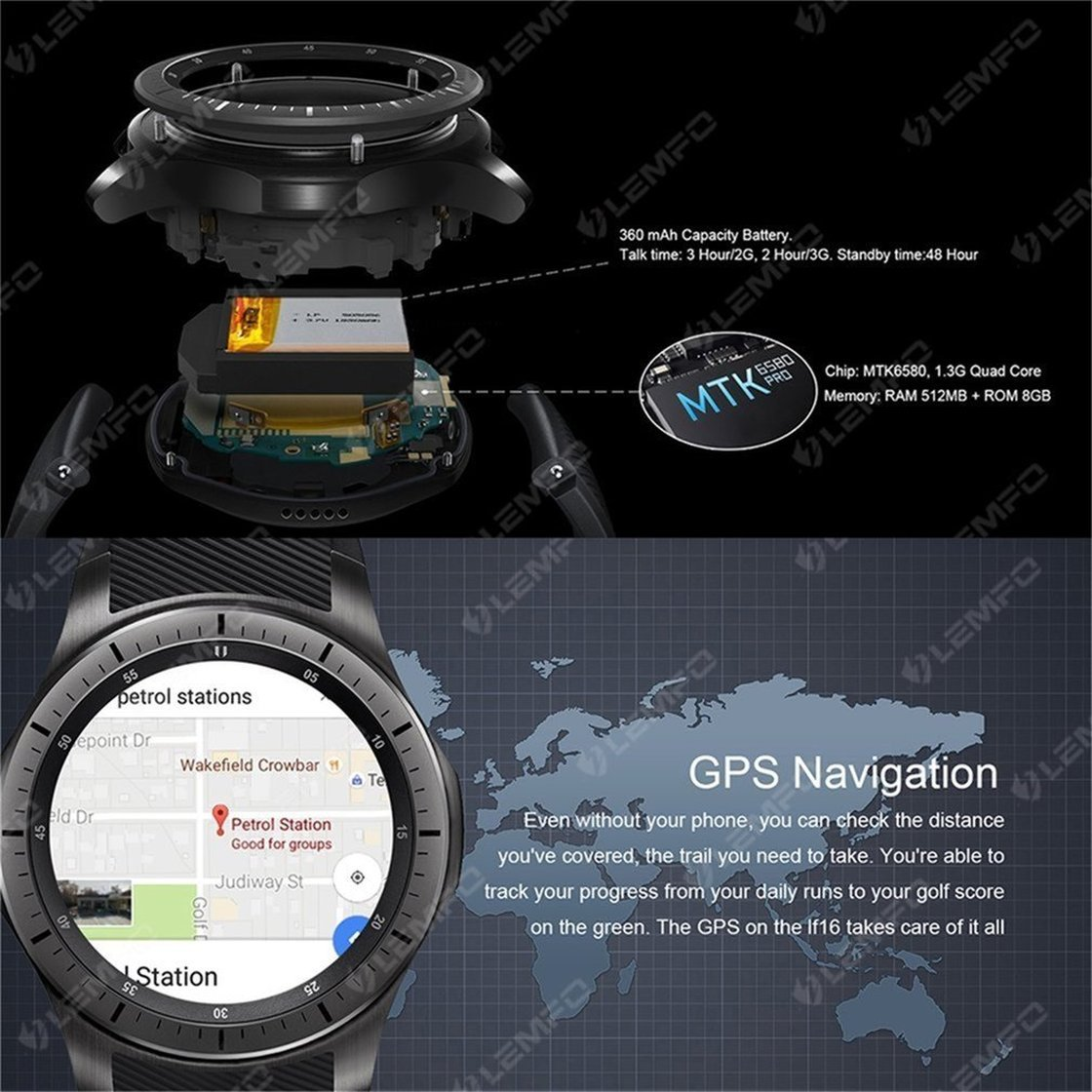 Amazon.com: LEMFO LF16 Smart Watch 1.39 Inch Screen ...