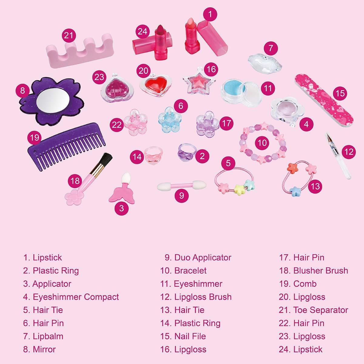Inhalt Beauty Prinzessin Adventskalender für Mädchen 2019