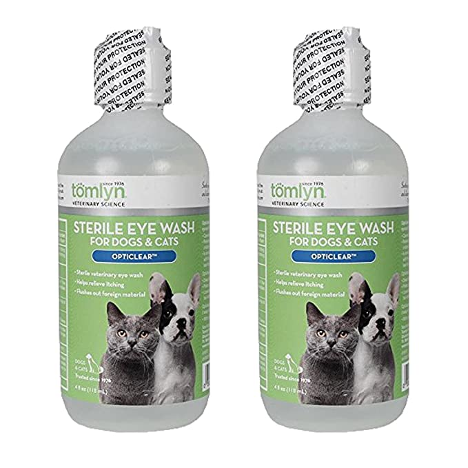 Tomlyn Opticlear Veterinary Eye Wash 4 oz - Pack of 6 Yes To Cotton Comforting Facial Moisturizer, 1.7 Fluid Ounce (Pack of 7)