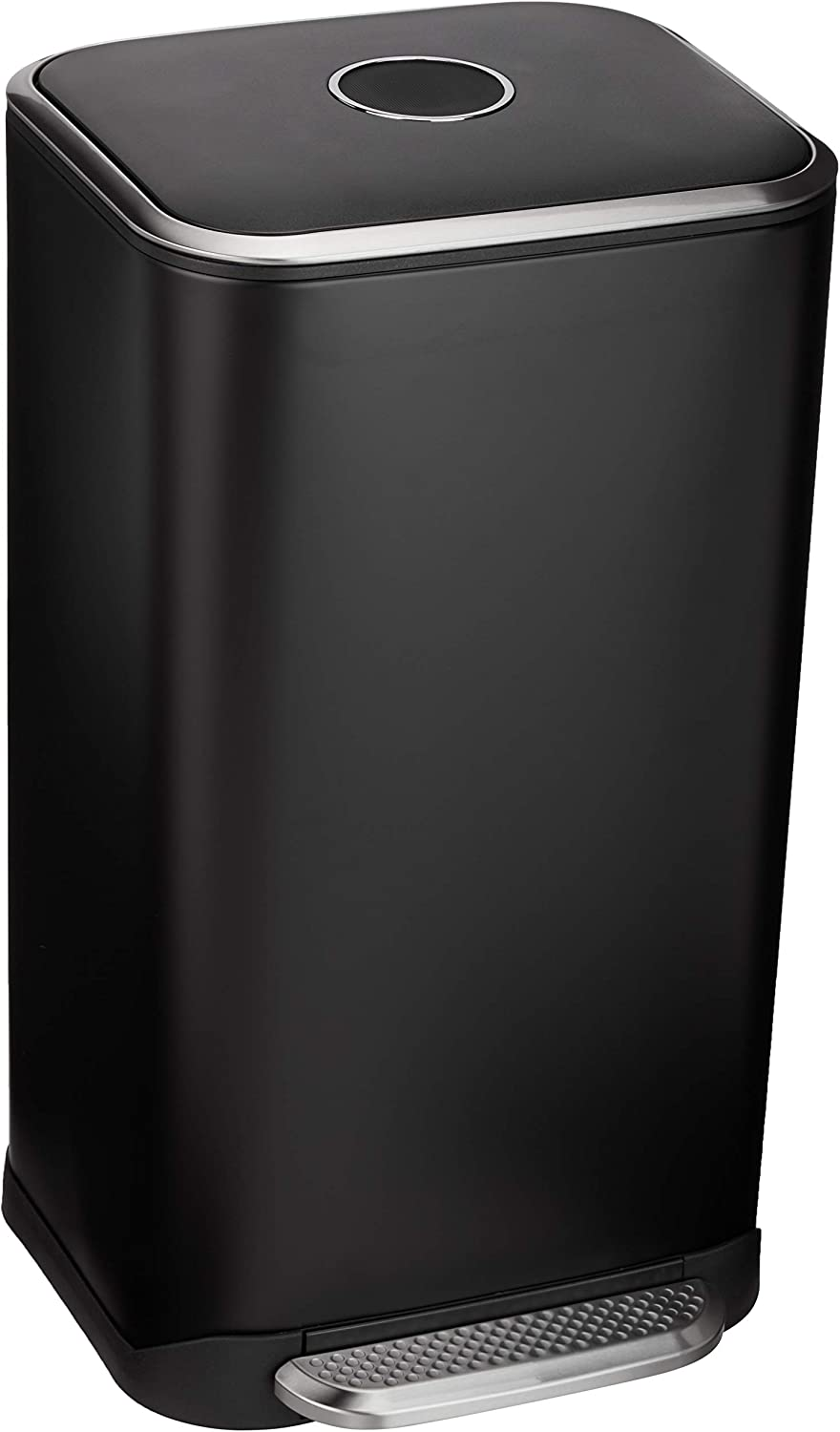 AmazonBasics Rectangle Soft-Close Trash Can - 32L, Black