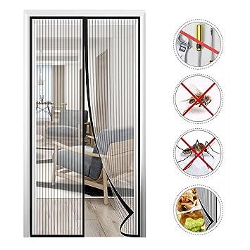 131deccc72ae4 Ubegood Moustiquaire Porte Magnétique, 210 x 90cm Rideau Moustiquaire à  Fixation Aimantée Rideau de Porte