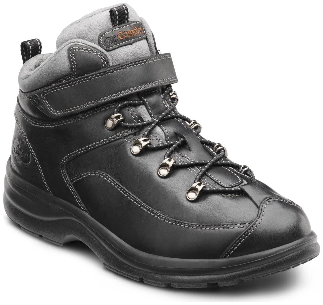 Dr. Comfort Women's Vigor Black Diabetic Hiking Boots