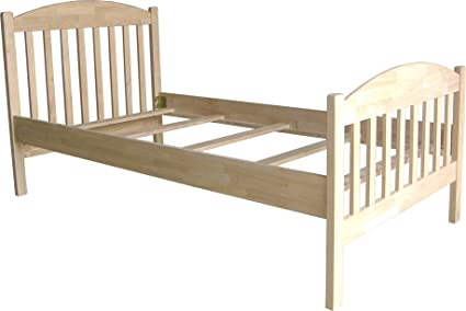 Amazon.com: International Concepts Unfinished Bed, Twin: Kitchen ...