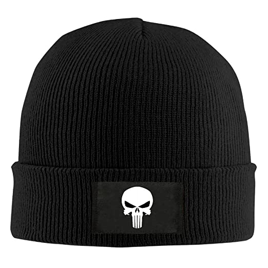 Amazon Punisher Skull Pattern Beanie Hats Ski Warm Cool Knit